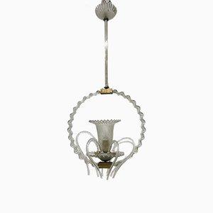 Lámpara colgante antigua de cristal de Murano de Barovier & Toso