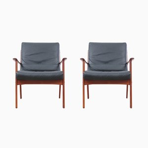 PJ112 Armchairs by Ole Wanscher for Poul Jeppesens Møbelfabrik, 1950s, Set of 2
