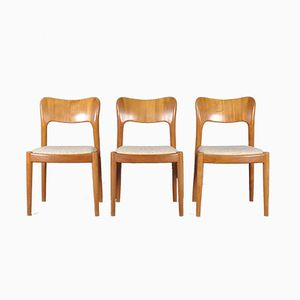 Danish Teak Chairs by Niels Koefoed for Hornslet Møbelfabrik, 1960s, Set of 3