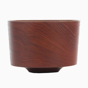 Vintage Danish Bowl in Solid Teak, 1950s