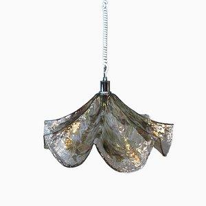 Lámpara colgante grande de cristal de Murano de Carlo Nason para Kalmar, años 70