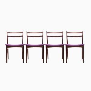Vintage Palisander Stühle von Henry Rosengren Hansen für Brande Møbelindustri
