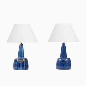 Scandinavian Ceramic Table Lamps by Maria Philippi for Søholm, 1960s, Set of 2