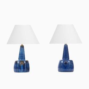 Skandinavische Keramik Tischlampen von Maria Philippi für Søholm, 1960er, 2er Set