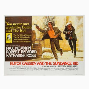 Butch Cassidy und the Sundance Kid Filmplakat von Tom Beauvais, 1969