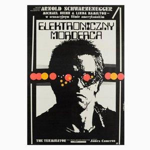 Poster vintage del film Terminator di Jakub Erol, Polonia, 1987