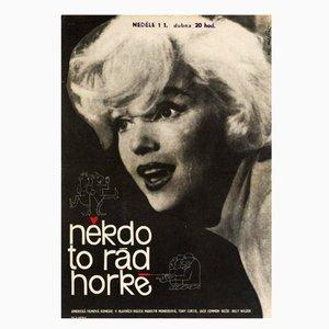 Poster vintage del film A qualcuno piace caldo, 1964