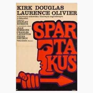 Póster de Spartacus vintage de Victor Gorka, años 70