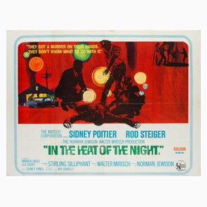 Affiche Vintage In the Heat de the Night, 1967