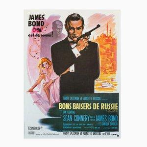 Poster vintage del film A 007, dalla Russia con amore di Boris Grinsson, anni '70