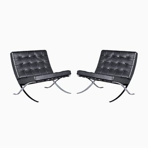 Barcelona Sessel von Mies van der Rohe für Knoll Inc., 1960er, 2er Set