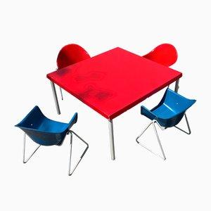 Chaises pour Enfant et Table en Fibres de Verre par Walter Papst, 1960s