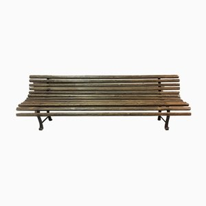 Antique Wood and Metal Garden Bench