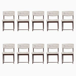 Mid-Century Rosewood Dining Chairs, Set of 10