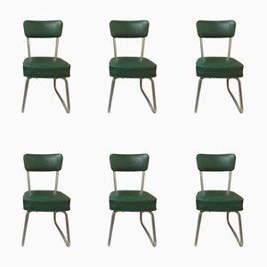 Chaises de Bureau Mid-Century en Skaï, Set de 6