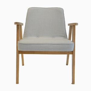 Mid-Century Light Blue 366 Armchair by Jozef Marian Chierowski