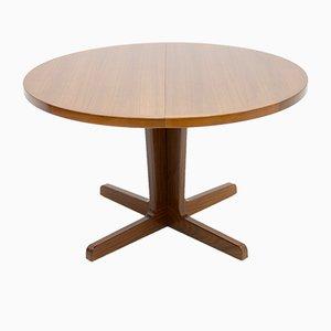 Mesa de comedor extensible danesa de teca, años 60