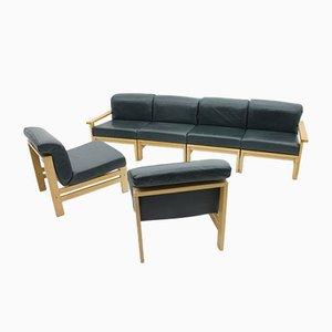 Modulares vintage Leder Sofa