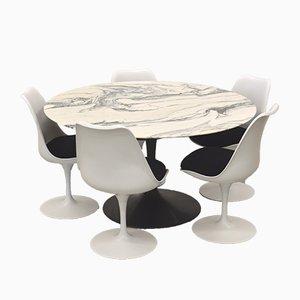Marmor Tulip Esszimmer Set von Eero Saarinen für Knoll International, 1970er