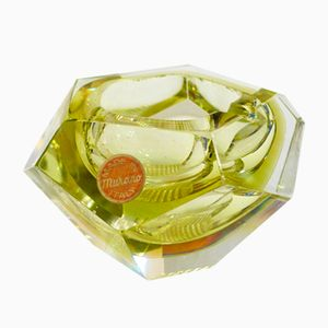 Sommerso & Murano Glass Ashtray, 1960s