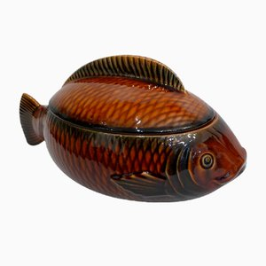 Fish Soup Tureen from Sarreguemines, 1950s