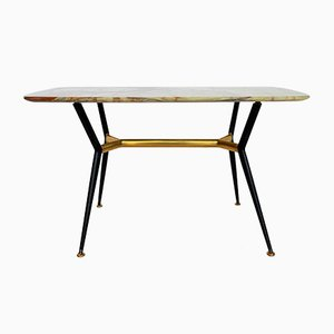 Mid-Century Italian Coffee Table With Onyx Top, 1950s
