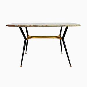 Table Basse Mid-Century avec Plateau en Onyx, 1950s