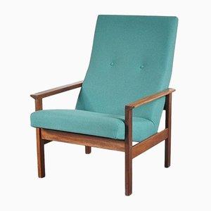 Sillón vintage azul verdoso de Yngve Ekström para Pastoe