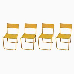 Italian Iron Side Chairs, 1970s, Set of 4