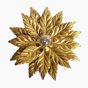 German Hollywood Regency Flower Sconce, 1970s