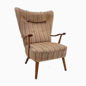 Vintage Armlehnstuhl aus Wolle, 1960er