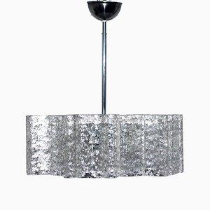 Lámpara de araña de vidrio de Doria Leuchten, años 60