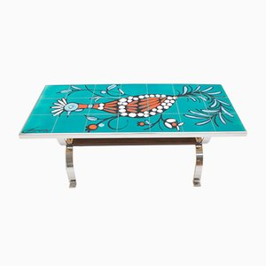 Belgian Mosaic Ceramic Coffee Table from Metakor, 1960s