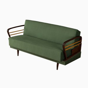 Green Sofabed with Two-Tone Frame, 1950s