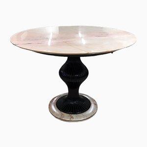 Marble & Mahogany Table by Osvaldo Borsani, 1950s