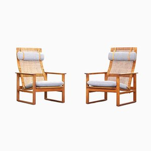 Danish Lounge Chairs by Børge Mogensen for Fredericia, Set of 2