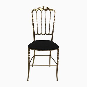 Chiavari Brass Chair by Giuseppe Gaetano Descalzi, 1970s