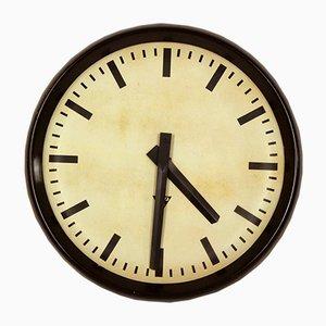 Grande Horloge de Gare en Bakélite de Pragotron, 1950s