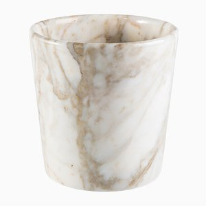 Rounded Edge Vase in Paonazzo Marble from FiammettaV Home Collection