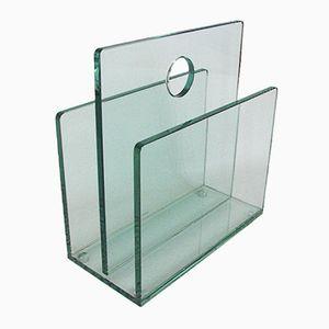 Glas Zeitschriftenständer, 1980er