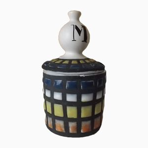 Mustard Jar with Tile Decor by Roger Capron, 1950s