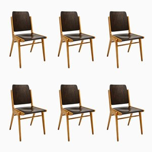 Mid-Century Dining Chairs by Franz Schuster for Wiesner-Hager, Set of 6