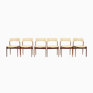 Dutch Teak Dining Chairs from Mahjongg Vlaardingeng, 1960s, Set of 6