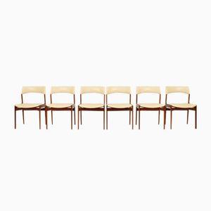 Niederländische Teak Esszimmerstühle von Mahjongg Vlaardingeng, 1960er, 6er Set