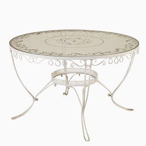 Vintage Italian Wrought Iron & Glass Table