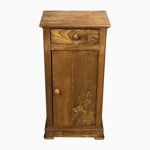 19th-Century Louis Philippe Nightstand in Chestnut