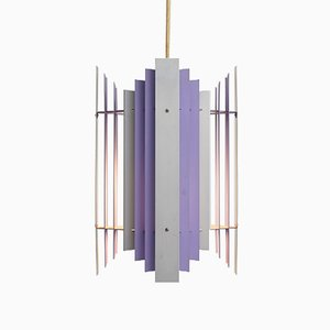 Danish Lilac Pendant Lamp by Preben Dal for HF Belysning, 1960s
