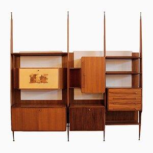 Vintage Italian Teak Veneer Bookcase