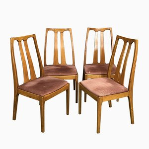 Teak Dining Chairs, 1970s, Set of 4