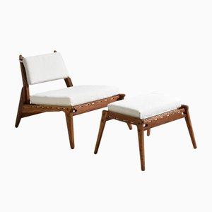 Hunting Chair & Ottoman, 1950s